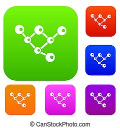 molécula, estrutura, cobrança, jogo