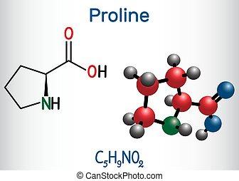 molécula, fórmula, p), molecule., estructural, modelo, ...