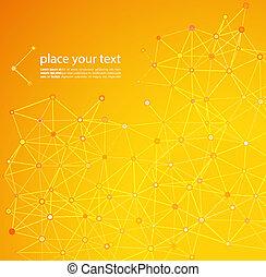 molécula, y, comunicación, plano de fondo