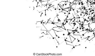 moléculaire, 3d, structure, espace