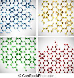 moléculaire, ensemble, fond