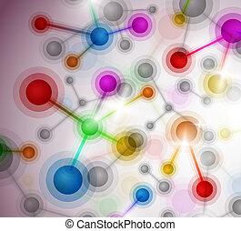 moléculaire, fond