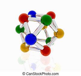 molécule, couleur, créatif, conception