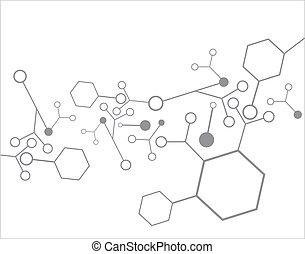 molécule, fond