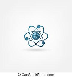 molécule, icône