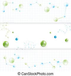 molécule, résumé, ensemble, bannière