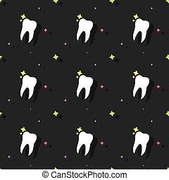 molaire, coloré, modèle, seamless, dent, dentiste, fond