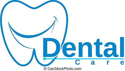 molar, com, sorrizo, desenho