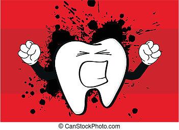 molar dental cartoon wallpaper6