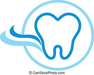 dental logotype in vector format very easy to edit
