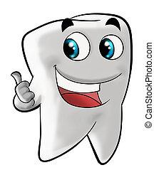 molar, sorrindo, dente