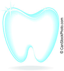 illustration of molar shape isolated on white background, in vector format solid colors, no gradients, very easy to edit