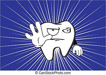 molare, dentale, background3, cartone animato
