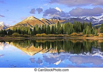 molas, désert, colorado, aiguille, lac, weminuche, montagnes
