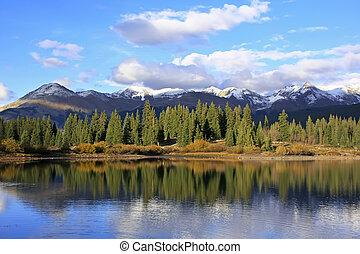 molas, selva, colorado, agulha, lago, weminuche, montanhas