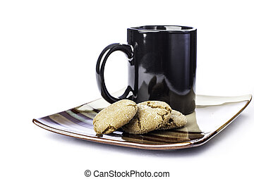 Molasses cookie with coffee