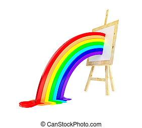 molbert, arcobaleno