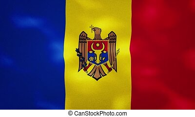 Moldova dense flag fabric wavers, perfect loop for background