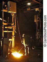 molde, fábrica, hierro