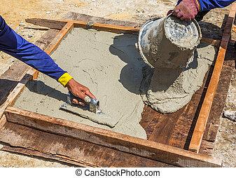 molde, losa, cemento