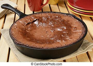 molde, sartén, brownies, hierro