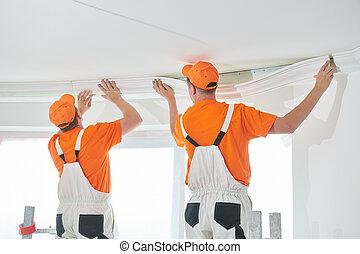 molding., 天井, 家 修理, 装飾用である, インストール, 装飾