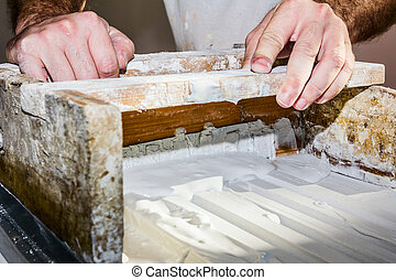 Molding profile - Craftsmen made plaster moldings on the ...