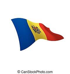 Moldova flag, vector illustration