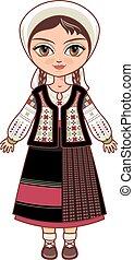 Moldova. Historical clothes.
