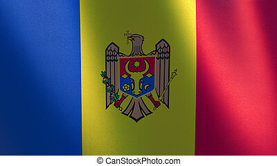 Moldova waving flag. 3d illustration