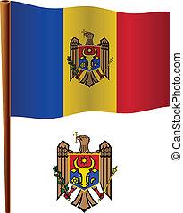 moldova wavy flag