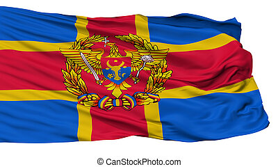 Moldovan Armed Forces Flag, Isolated On White Background, 3D...