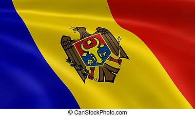 Moldovan flag in the wind