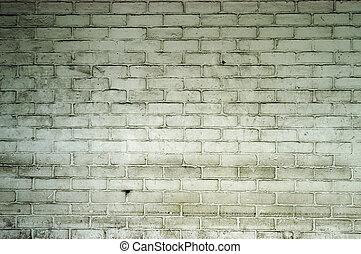 moldy brick wall