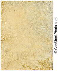 Moldy old paper isolated on a white background.