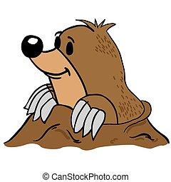mole cartoon illustration