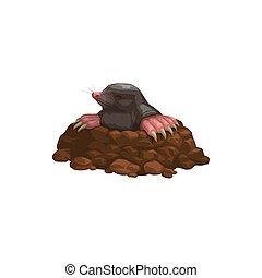 Mole icon rodent animal pest control extermination
