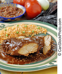Mole sauce with chicken