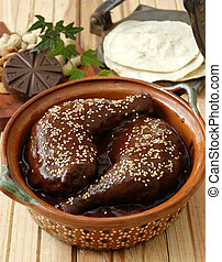 Mole sauce with turkey - A traditional mole sauce from...