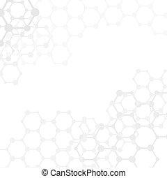 molecole, (vector), spazio, astratto, fondo, copia, medico