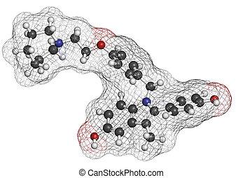molecul, droga, postmenopausal, bazedoxifene, Prevención,...