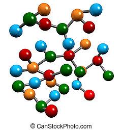 moleculair, communie, chemie