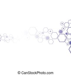 Molecular abstract background