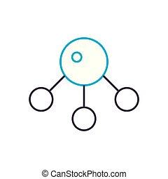 Molecular analysis vector thin line stroke icon. Molecular analysis outline illustration, linear sign, symbol concept.