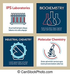 Molecular and industrial chemistry cards set
