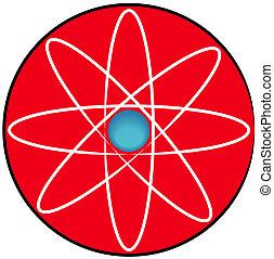 molecular atom symbol or button