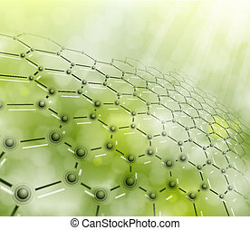 Molecular background - Abstract background of the molecular...