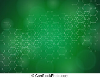 Molecular background - Abstract molecules medical background