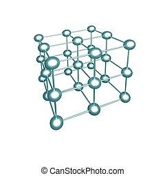 Molecular crystalline lattice.