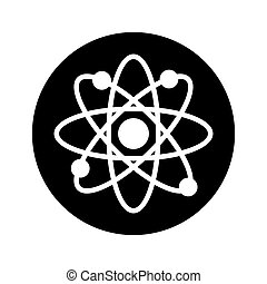 molecular sign isolated icon